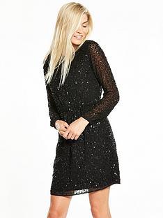 yas-beada-long-sleeve-dress-black
