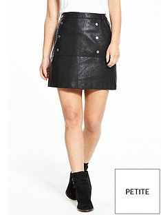 vero-moda-petite-cameo-short-leather-look-skirt