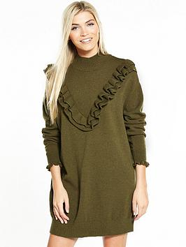 Vero Moda Brawley Svea Long Sleeve Short Dress - Olive