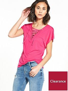 vero-moda-rykiel-sleeveless-lace-up-top-pink