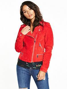 vero-moda-royce-suede-jacket-red