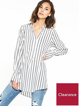 vero-moda-erika-long-sleeve-bell-shirt-grey