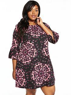 junarose-floral-34-sleeve-dress