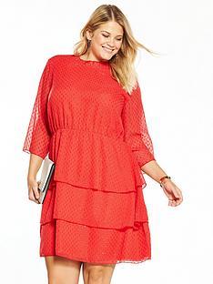 junarose-kalanbspthree-quarter-sleeve-above-knee-dress-red