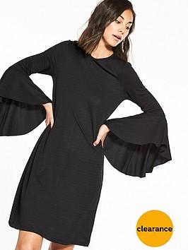 yas-vona-long-sleeve-dress-black