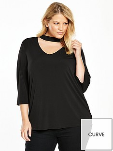 junarose-castynbspthree-quarter-sleeve-blouse-black