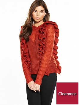 yas-lucia-ruffled-knitted-jumper