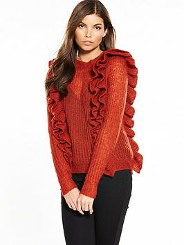 Y.A.S Lucia Ruffled Knitted Jumper