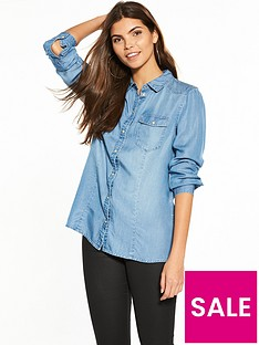 vero-moda-long-sleeve-denim-shirt