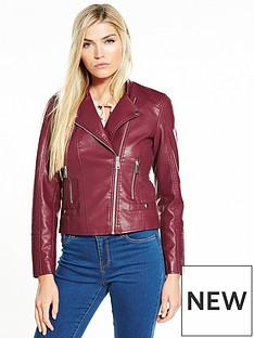 vero-moda-kerri-short-pu-jacket-zinfandel