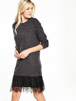 vero-moda-gigi-layered-sweat-dress-black