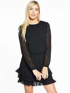vero-moda-freya-long-sleeve-short-dress