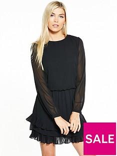 vero-moda-freya-long-sleeve-short-dress