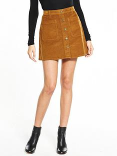 vero-moda-grace-corduroy-skirt-brown