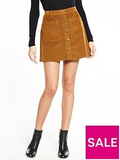 vero-moda-grace-corduroy-skirt-brown