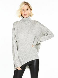 vero-moda-duarte-long-sleeve-roll-neck-jumper-light-grey