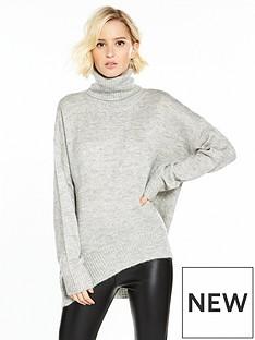 vero-moda-duarte-long-sleeve-roll-neck-jumper-light-grey