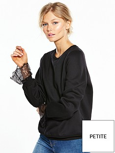 vero-moda-petite-bessie-long-sleeve-sweat-top-black