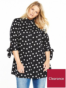 v-by-very-curve-viscose-tie-sleeve-spot-longline-shirt