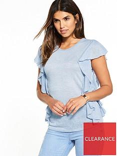 v-by-very-frill-slub-t-shirtnbsp--light-blue