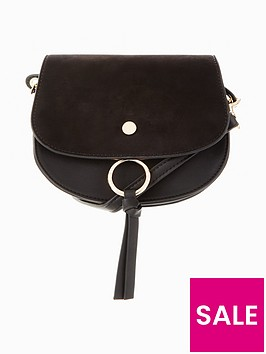 v-by-very-large-flat-stud-saddle-bag
