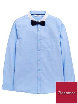 v-by-very-boys-shirt-with-bow-tie-blue