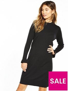 v-by-very-frill-cuff-knitted-dress