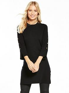 v-by-very-press-stud-split-sleeve-tunic
