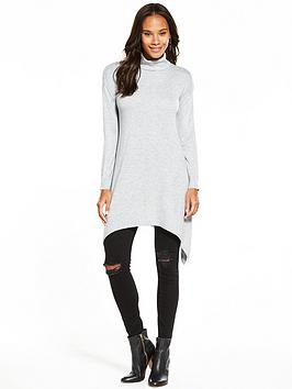 v-by-very-roll-neck-handkerchief-hem-tunic