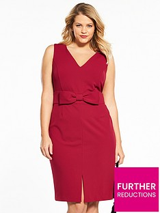 v-by-very-curve-bow-waist-bodycon-dress