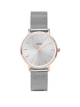 cluse-cluse-minuit-rose-gold-case-with-silver-mesh-strap-ladies-watch
