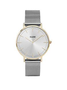 cluse-cluse-la-bohegraveme-gold-case-silver-mesh-strap-ladies-watch