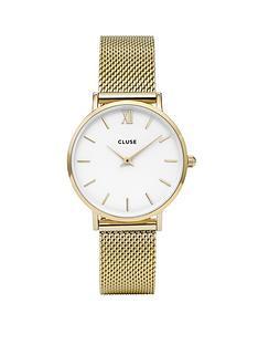 cluse-cluse-minuit-gold-tone-ladies-mesh-strap-watch