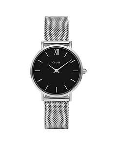 cluse-cluse-minuit-black-dial-silver-mesh-strap-ladies-watch