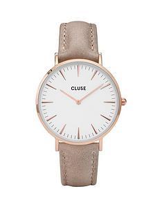 cluse-la-bohegravemenbsprose-gold-hazelnut-leather-strap-ladies-watch