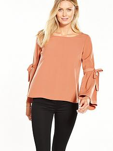 vila-abelle-long-sleeve-top-red