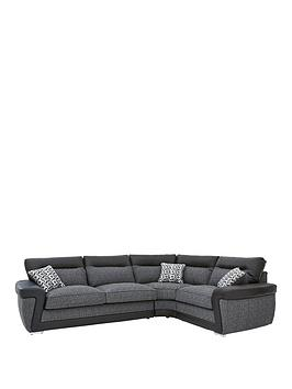 geo-fabric-and-faux-leather-right-hand-corner-group-sofa