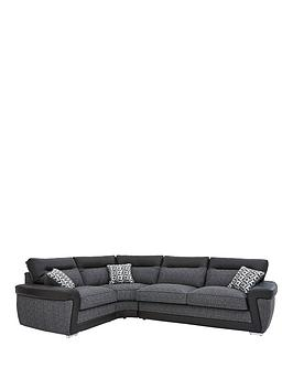 geo-fabric-and-faux-leather-left-hand-corner-group-sofa