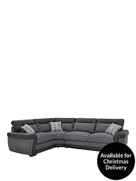 geo-fabric-and-faux-leather-left-hand-corner-group-sofa-bed