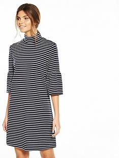 vila-sonja-three-quarter-sleeve-dress-navy