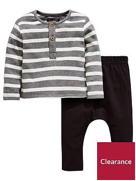 mini-v-by-very-baby-boys-stripe-button-through-top-amp-jogger-set
