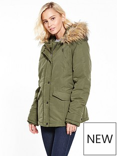 vila-must-short-parka-jacket-khaki