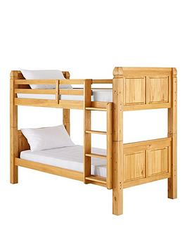 corona-solid-pine-detachable-bunk-bed-with-mattress-options
