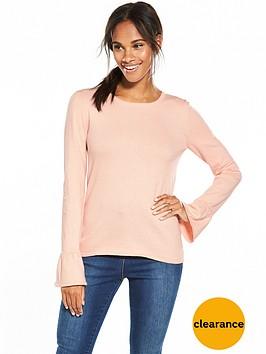 vila-kendri-long-sleeve-knit-top-peach