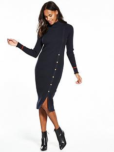 vila-soldana-long-sleeve-knit-dress-navy
