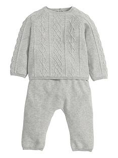 mamas-papas-baby-2-piece-cable-knit-outfit