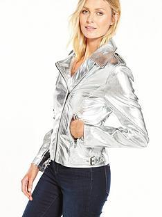 vila-silver-biker-jacket