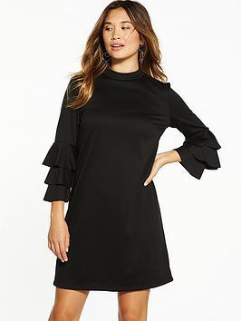 Vila Ricana Long Sleeve Dress - Black