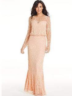 michelle-keegan-embellished-maxi-dress