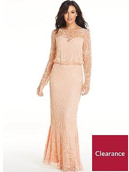 michelle-keegan-embellished-maxi-dress